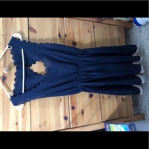 Navy/cream dress